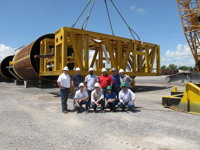 InterMoor team with fabricated suction pile anchors